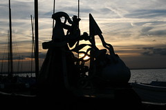 Silhoutte (Obscured By Clouds Pictures) Tags: sunset whitstable