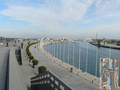 FORMULA 1 VALENCIA CIRCUITO GP EUROPA puente sobre la marina con  plano
