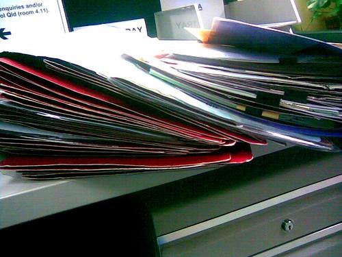 My poor desk...