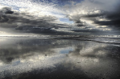 Northsea skies (Danil) Tags: autumn sky storm holland reflection beach dutch clouds strand island waddeneiland nikon wind herfst d70s nederland noordzee zee ameland hdr branding schuim eiland kust themoulinrouge golven photomatix aplusphoto