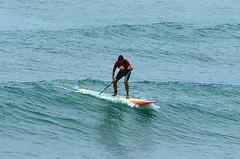 Surf no Recreio,  com a maior prancha do mundo. Grande Rico!