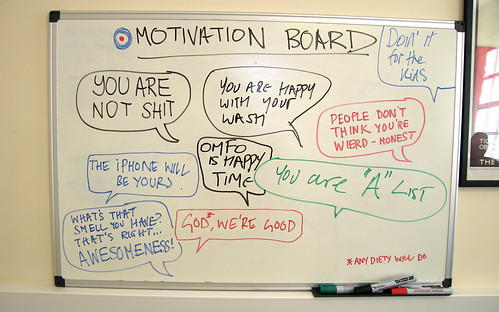 The Rissington Motivation Board by Simon Clayson.