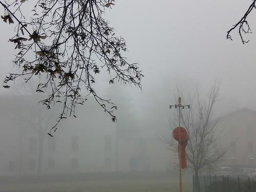 Helipad in fog