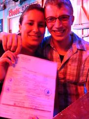 A wedding at a bar in Sebring, Florida, USA