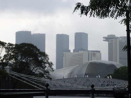 Suntec City, Esplanade under ominous skies