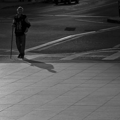 Nobody around, just me and my shadow.... (* Ahmad Kavousian *) Tags: shadow man alone explore intersection whois panhandler explored explore40 anawesomeshot goldenphotographer bwartaward beeninexplorepage beeninflickrexplorepage