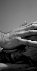 Acrobat (just.Luc) Tags: bw selfportrait man male me face self mouth u2 nose lyrics eyes hands hand song acrobat
