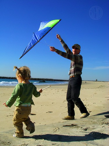 Kite Flying with Uncle George