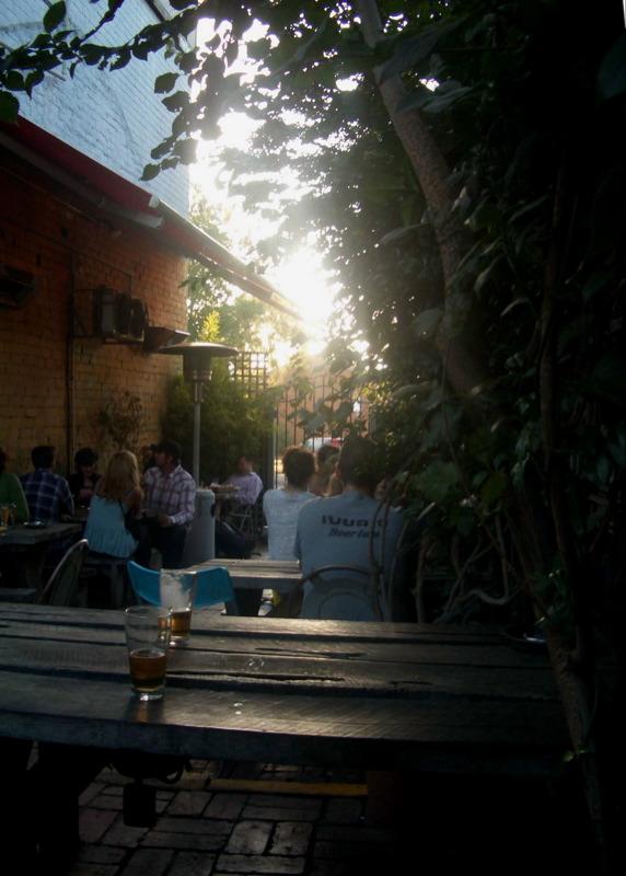 Napier beer garden