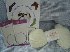 Learn to socks on 2 circular needles kit