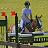 Show Jumping - kissing the rail
