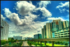 My Neighborhood (Raj Vimal) Tags: morning clouds canon subway photography singapore bluesky dev mrt seagate hdb hdr raj beautifulday vimal interstingness diamondclassphotographer betterthangood rajvimal