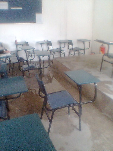 A água e a sala de aula