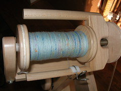 light blue tweedy corriedale