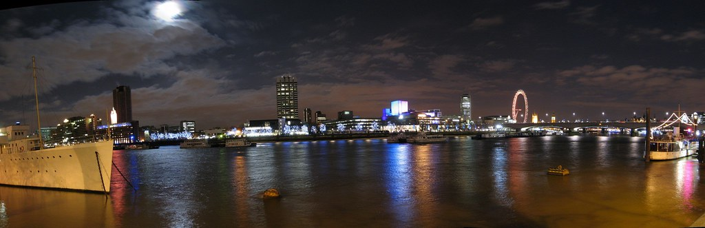 View of the Thames from Tube Station Temple