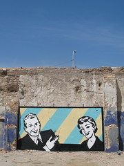 introducing... (nadie en campaña) Tags: barcelona graffiti mural plantilla nadie franjas