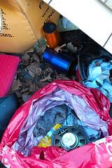 magenta bag of trash, and then some (banter) Tags: trash dumpster magenta bayarea redo