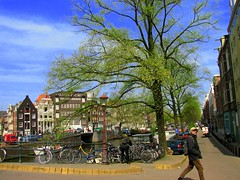 Memories from my trip to Europe: a postcard of  the charming Amsterdam (neloqua) Tags: old blue light sunlight beautiful amsterdam wonderful wonder daylight amazing fantastic perfect colorful great sunny bluesky excellent moment lovely charming magical springtime sunnyday bycicles themoulinrouge