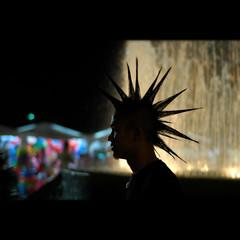 Like it spiky (Yorick...) Tags: black fashion contrast hair fun thailand punk bokeh thai teenager spikes airportplaza
