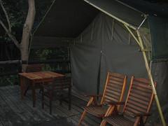 Tent where I stayed at Phophpnyane Falls