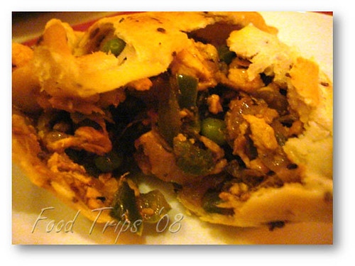 chicken samosa close up