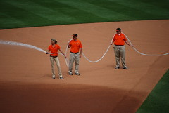 Infield Patrol (Praying for Lions) Tags: boston baseball may redsox baltimore os fatherandson 2008 orioles rivals camdenyards 200mm americanleague oriolepark daygame takemeouttotheballgame 200mmlens americanleagueeast americaspastime nikond40x