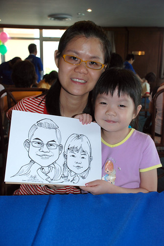Caricature live sketching Temasek Fun Day 14