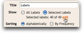 Blogger: Selected Labels