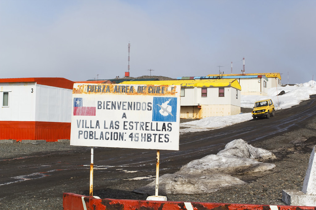 Arriving at Frei Station in Antarctica