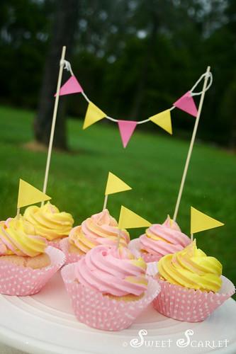 Sweet Scarlet Pink Lemonade Cupcakes