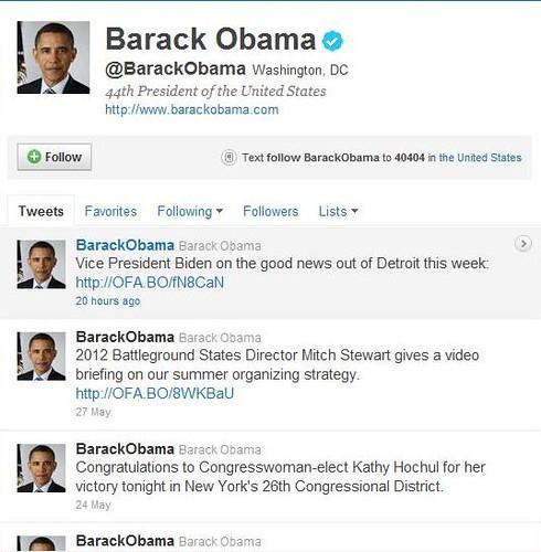 Barack's Tweets