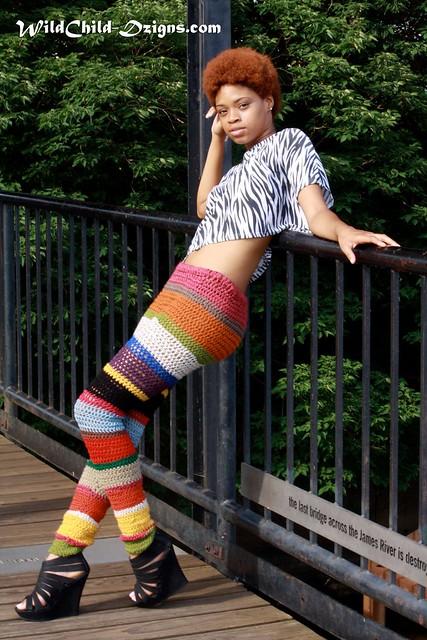 Funky crochet pants