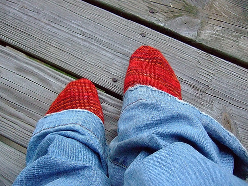 Sock pal socks from Knittyboard sock swap