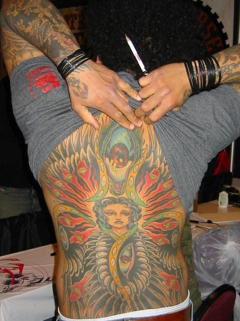 Back Tattoo on Artist Henry