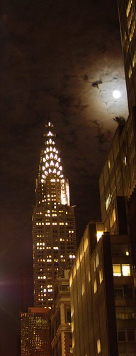 Chrysler Building and Moon