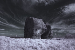 Another World (Bobshaw) Tags: world red summer rock ir hill dream planet infrared another infra summerhill hartlepool