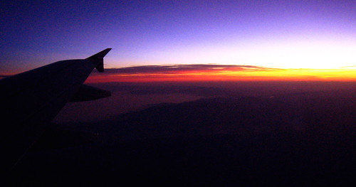 sunrise on flight