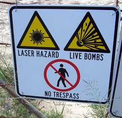 I stayed out (pominoz) Tags: sign funny nsw trespass hunter thumbsup bomb broke hazard huntervalley twothumbsup