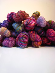 pile of koigu (mintyfreshflavor) Tags: knitting knit koigu yarn explore 30thbirthday birthdaypresent 21skeinsofkoigu