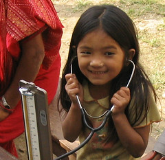 Girl with stethoscope