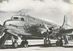 Skymaster named Tafelberg    1946 (Etiennedup) Tags: saa airliner 1946 skymaster southafricanairways dc4 propliner