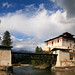 Cantilever bridge at Paro Dzong