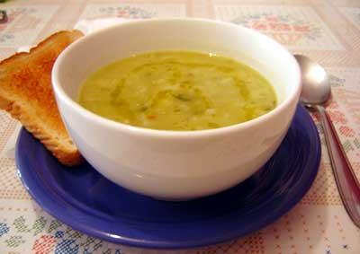 Sopa fácil de ervilha