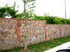 stone-fence (rhmn) Tags: stonewall stonefence longfence borderfence concretefence