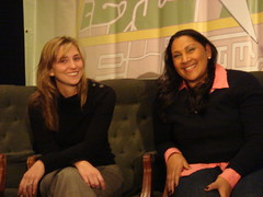 Big Smiles from Stacy Harris and Natala Menezes from Microsoft