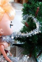 pebbles tried to help... (BeckyRenee) Tags: christmas tree green pebbles tinsel dolly duna 2007 moof