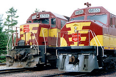 WC Faces (barry_steam) Tags: railroad train diesel wc freight itasca wisconsincentral barrysteam