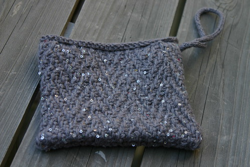 Little Knit Clutch (in progress)