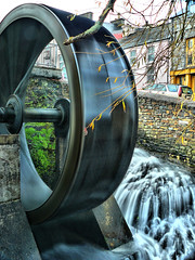 Spinning wheel (Pockets1) Tags: longexposure ireland brown jason motion water lumix town movement spokes panasonic round spinning rotating bantry waterwheel circular  spindal dmcfz8 betterthangood pockets1 jasontown
