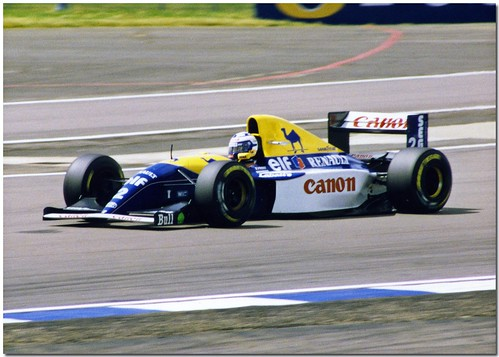 Alain Prost Williams FW15 Renault F1 1993 Silverstone British GP ...
